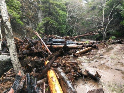 Big Creek mass wasting