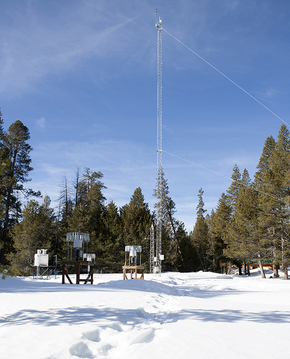 The NRS's climate monitoring stations track a wide range of weather conditions, including the bitter winters at Sagehen Creek Field Station near Truckee. Image credit: Lobsang Wangdu
