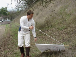 Andrew MacDonald of UC Santa Barbara plans to use his Mathias Grant to visit 14 NRS reserves while surveying the prevalence of human pathogens in tick populations. Image credit: Kate McCurdy