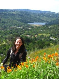 Erin Riordan enjoying the spring bloom in Briones Regional Park in the East Bay. Image credit: Courtesy Erin Riordan