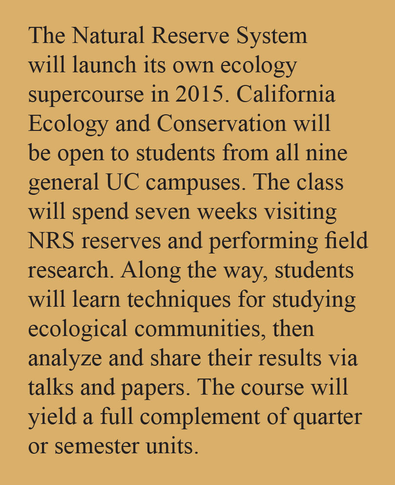 The Natural Reserve System will launch its own ecology supercourse in 2015.